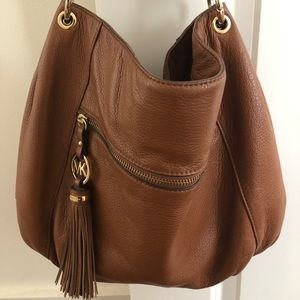 Michael Kors: Brown leather Hobo Purse